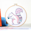 Squirrel Contemporary Embroidery Craft Kit