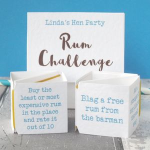 Pop Up Rum Challenge Hen Do Game