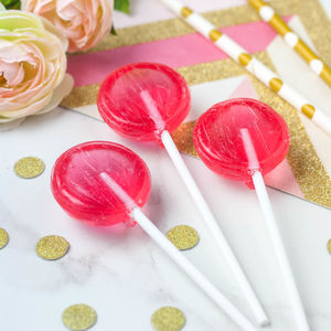 Five Raspberry Prosecco Lollipops - chocolates & confectionery