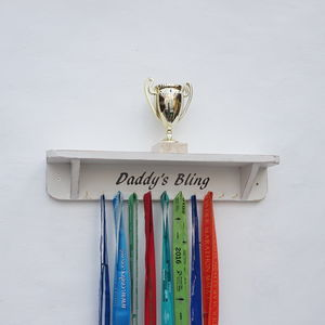Personalised Medal And Trophy Display Shelf