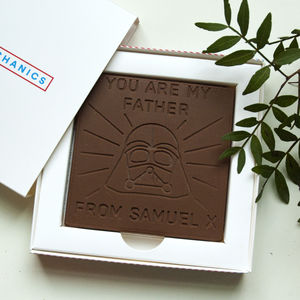 Personalised 'Father' Father's Day Chocolate Card - novelty chocolates