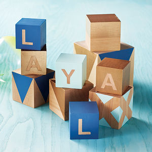 Personalised Deluxe Building Blocks In Pastels - personalised gifts for babies