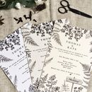 Woodland Fern Wedding Invitation Set
