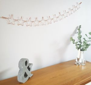 Copper Star Wire Bunting