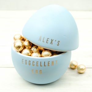 Eggcellent Children's Personalised Easter Egg - novelty chocolates