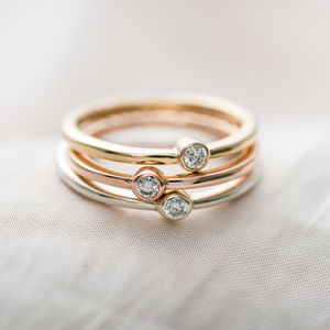 Personalised 9ct Gold Diamond Engagement Ring