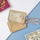 Personalised Vintage Map Luggage Tag