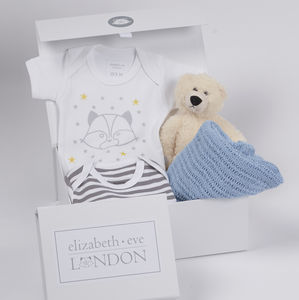 Baby Boy Teddy Bundle Gift Box