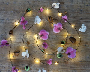 Hand Painted Orchid Fairy Lights