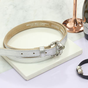 Personalised Women's Metallic Leather Belt