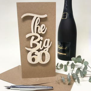 Personalised 'The Big 60' Birthday Card - 60th birthday cards