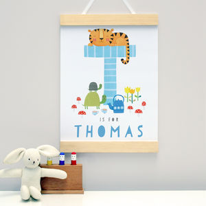 Personalised New Baby Wall Hanging Choose Any Letter