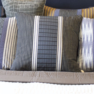 Vintage Stripe Smart Square Cushion Cover