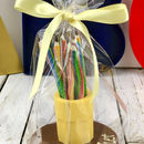 Chocolate Pot, With 10 Sweetie Pencils