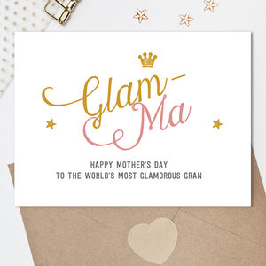 Glam Ma Grandma Card - mother's day cards & wrap