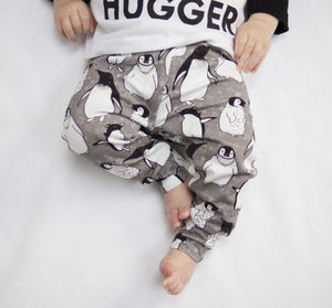 Organic Penguin Baby And Toddler Leggings - baby's first christmas
