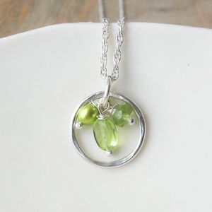 Peridot Ring Necklace