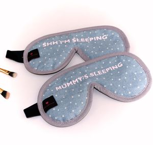 Chambray Star Print Sleep Mask Plain Or Personalised