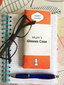 Personalised Book Glasses Case