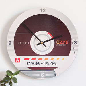 Personalised Retro Cassette Tape Style Wall Clock