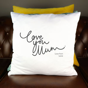 Love You Mum Personalised Cushion Cover