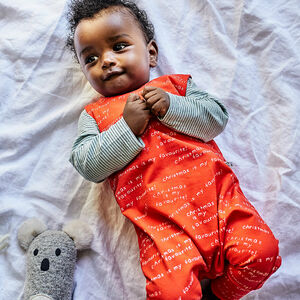 'Christmas Is My Favourite' Print Children's Dungarees