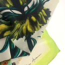 'Arecaceae' Illustrated Silk Scarf