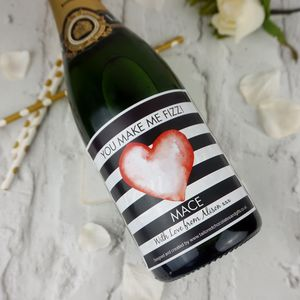 You Make My Heart Fizz Valentine Champagne Label