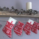 Christmas Stocking Knitted Garland