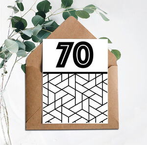 70 Printed Birthday Card