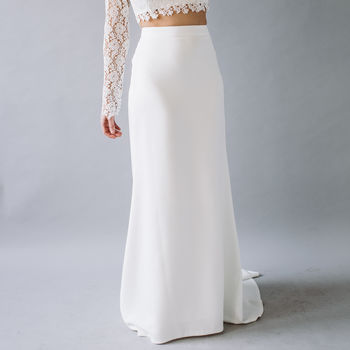Lola Crepe Fitted Maxi Skirt
