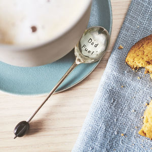 Personalised Vintage Coffee Bean Spoon - kitchen