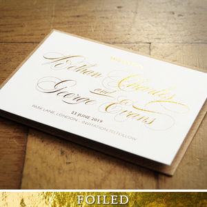 Royale Gold Foiled Wedding Invitation