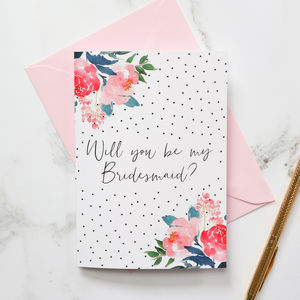 Will You Be My Bridesmaid? Polka Dot Card