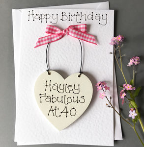Keepsake Birthday Card - 40th birthday cards