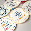 'To Travel Is To Live' Inspirational Travel Quote Hoop