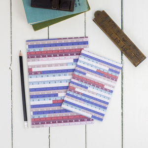 Tape Measures Notebook - summer sale