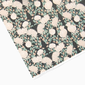 Vintage Floral Dark Wrapping Paper