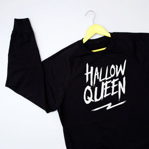 'Hallow Queen' Halloween Sweatshirt Jumper - new in
