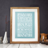 Personalised Favourite Lyrics Poster - anniversary gifts