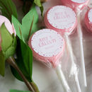Personalised Polka Dot Wedding Favour Lollipops
