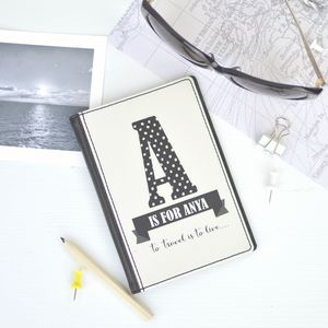 Personalised Initial And Name Passport Cover