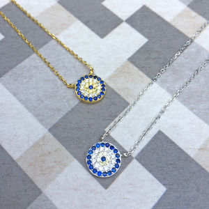 Sterling Silver Evil Eye Necklace - create your own luck