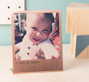 Personalised Solid Copper Polaroid Print - father's day gifts