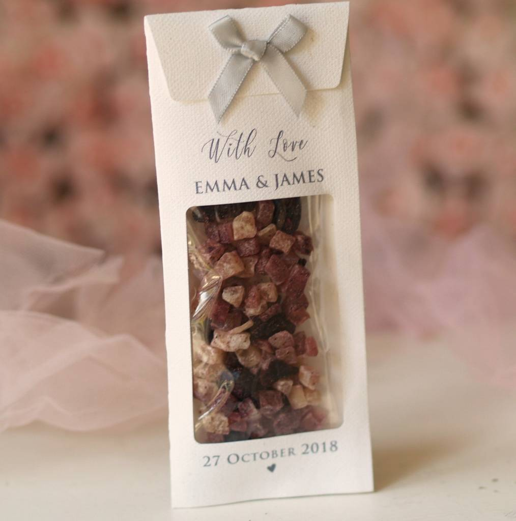 fruit tea bags personalised wedding favours by beautiful day ...