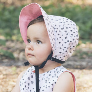 Flecks Summer Baby Bonnet / Girls Sun Hat