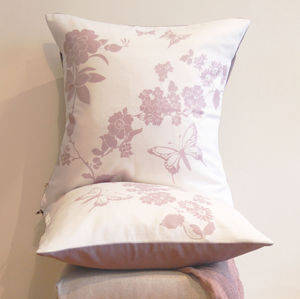 Floral Cushion, Lavender