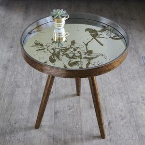 Round Mirror Bird Table - whatsnew