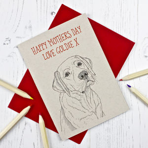 Labrador Dog Mothers Day Card