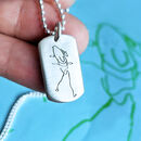 Men's Dog Tag Personalised With Your Drawing